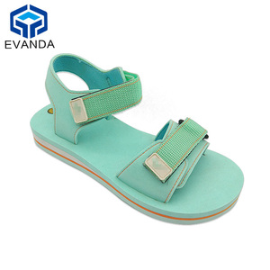 Hook&loop Eva Oem Fashion Anti Slip Green Cute Handmade Sandal Woman