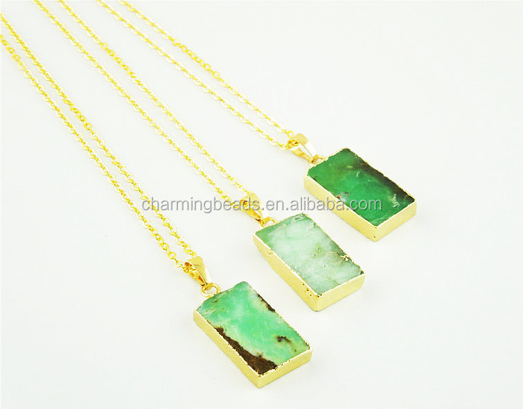 CH-ZAP0671 necklace jewelry,rectangle Australia jade pendant necklace with chain,fashion stone pendant necklace