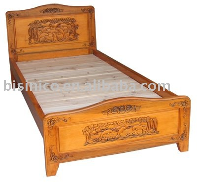 hand carved mahogany bedroom furniture oak solid wood bed antique sets