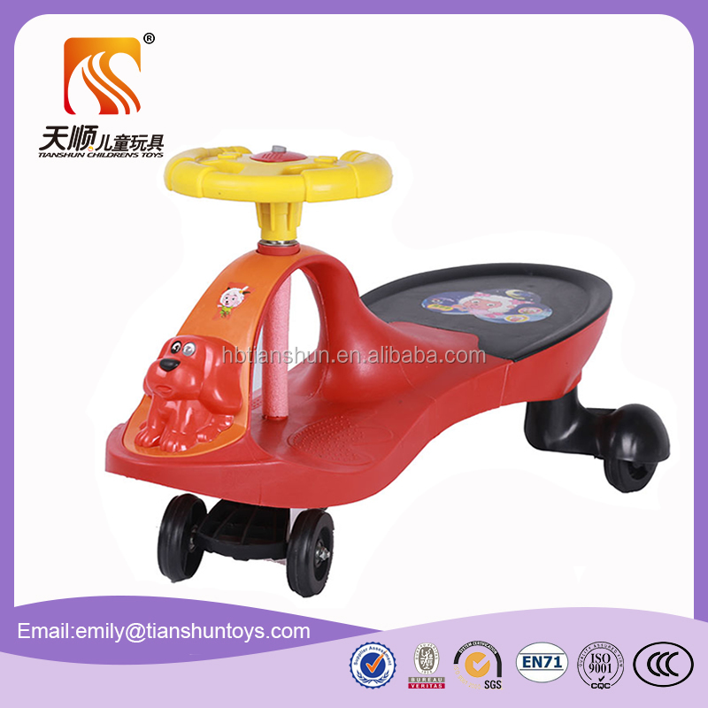 Hot sale new pp plastic mini ride on car kids twist toys car made in china