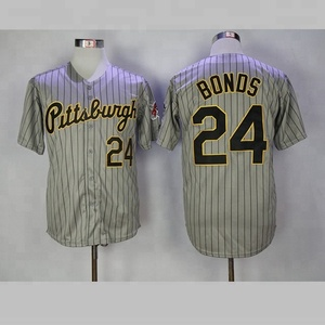 official photos b8f3e 0ac7d Pittsburgh Pirates Baseball Jersey Shirt Button Down Plain Wholesale Stripes