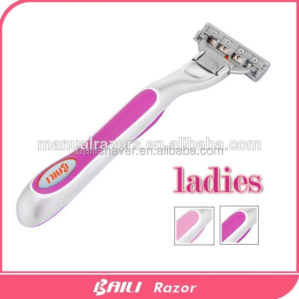 Good quality women razor and lady shaver in 5 blades system razor