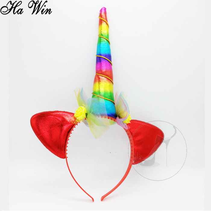 Carnival Sparkly Unicorn Horn Party Headband b7406e06031