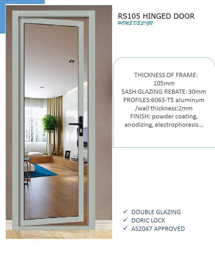 Commercial aluminum double swing doors buy