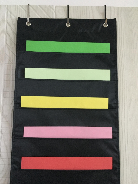 Hanging Wall Pocket File Storage Chart Folder Organizer Office School Home,  Over The Door Magazine