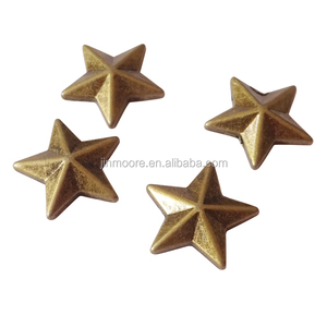 Antique Brass Star Stud Rivet For Bike Nailheads Leathercraft