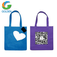 Cheap Print Online China Supplier Promotion Shopping Logo Non Woven Nonwoven T-Shirt Bag,Custom spunbonded Bag