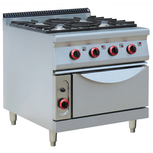 Catering apparatuur/Multifunctionele commerical keuken apparatuur gas range 4 branders met oven