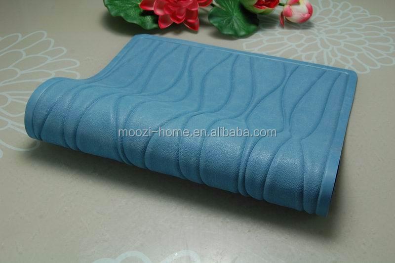 wave design extra long rubber bath mat curved shower mat