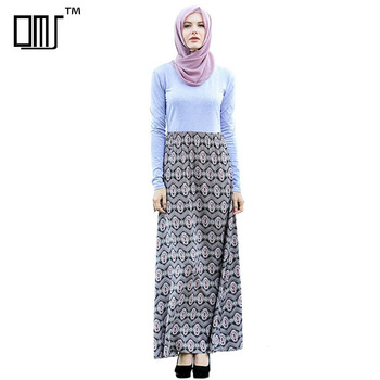 Modest muslim islamic clothing long sleeve hijab dresses for women