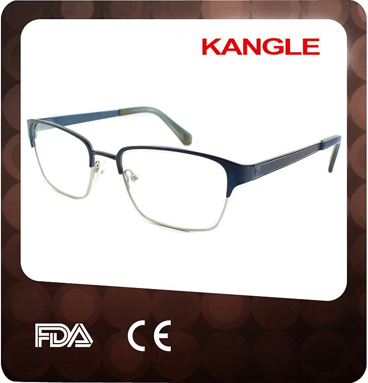 2015 Wholesale Fashion Men Eyewear metal Eyeglass Frame Factory
