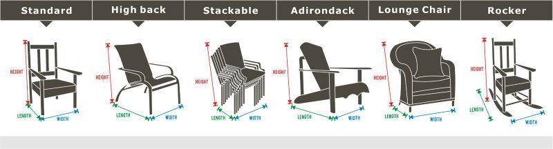 Terrasmeubilair covers ronde tafel spandex stoel cover stoel seat cover