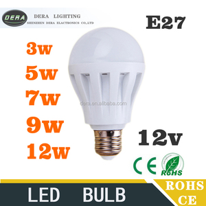 Hot-sale B22 E27 rechargeable light DC12v led emergency lamp 3w 5w 7w 9w 12w emergency 12v led light bulb