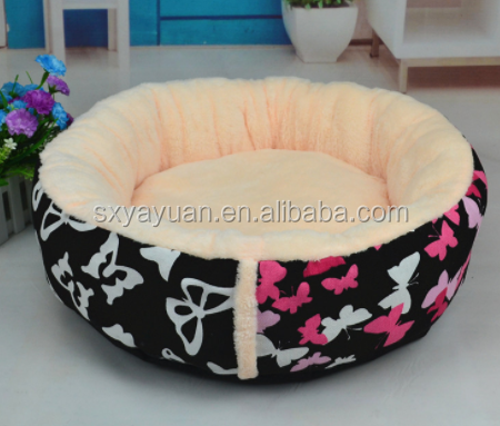 Colorful Wholesale Indoor Luxury Round Soft Pet Dog Cat Bed