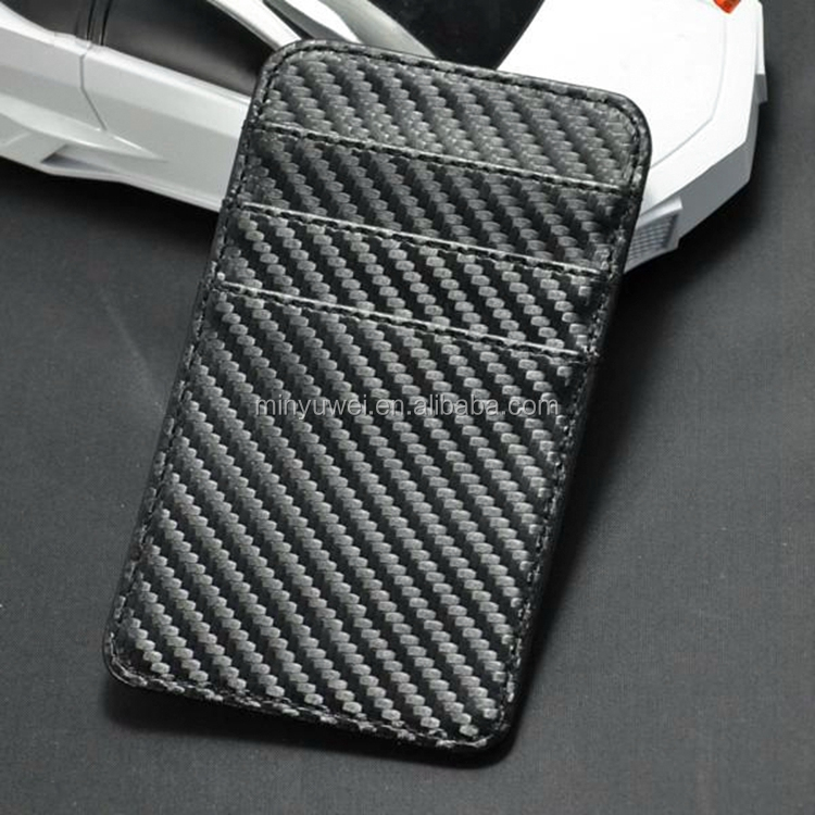 Customized brand double side card slots carbon fiber credit card holder high quality