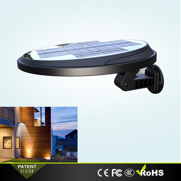 Patented IP65 Waterproof Outdoor Solar Wall Lights with Motion Sensor