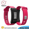 Hot sell products silicone wrist band pedometer/calories simple pedometer watch