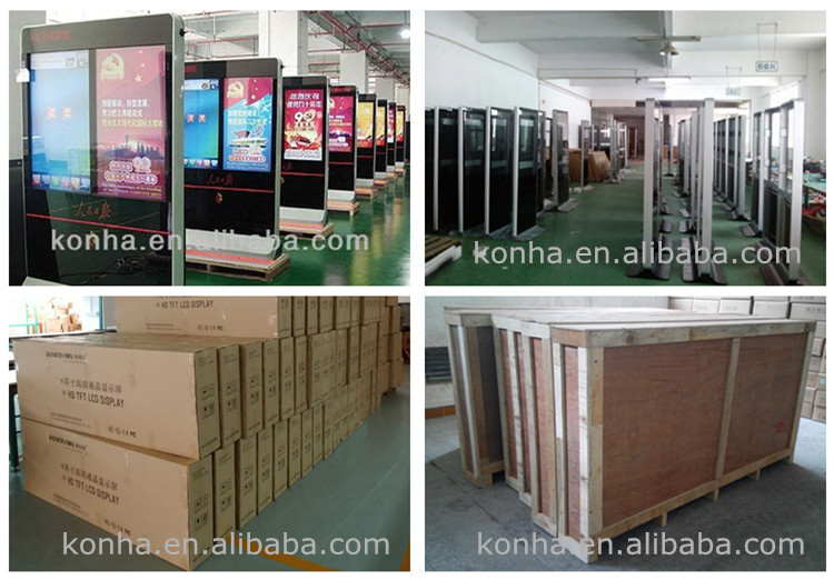 65inch floor stand LED screen digital display with android os