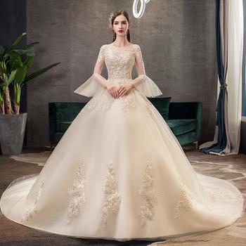 Mewah Sampanye Warna Elegan Renda Dekorasi Pernikahan Gaun Turki Istanbul Ekor Panjang Bola Gaun Pernikahan Gaun Buy Kereta Besar Ekor Gaun Pernikahan Gaun Bola Gaun Pernikahan Gaun Dengan Lengan Islam Pernikahan Gaun