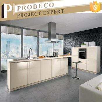 Gloss Tinggi Kabinet Dapur Modern Desain Dengan Warna Cream Digunakan Lemari Craigslist