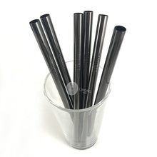 OEM custom black metal <span class=keywords><strong>rietjes</strong></span> 12 MM bubble thee herbruikbare