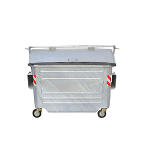 New design metal container 2500L hot dip galvanized steel garbage bin dumpster