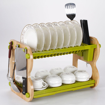 wood wall plate rack dish drainer industrial dish drying rack & Wood Wall Plate Rack Dish Drainer Industrial Dish Drying Rack - Buy ...
