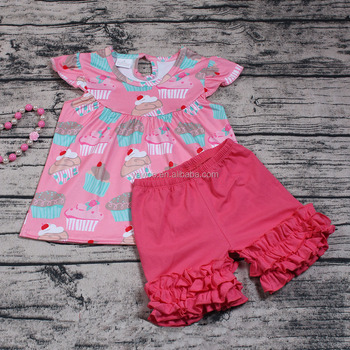 0d1801ad0 Yawoo New Style Baby Girls Flutter Sleeve Boutique Outfits 2pcs Wholesale  Ruffle Shorts Clothes Set Cheap