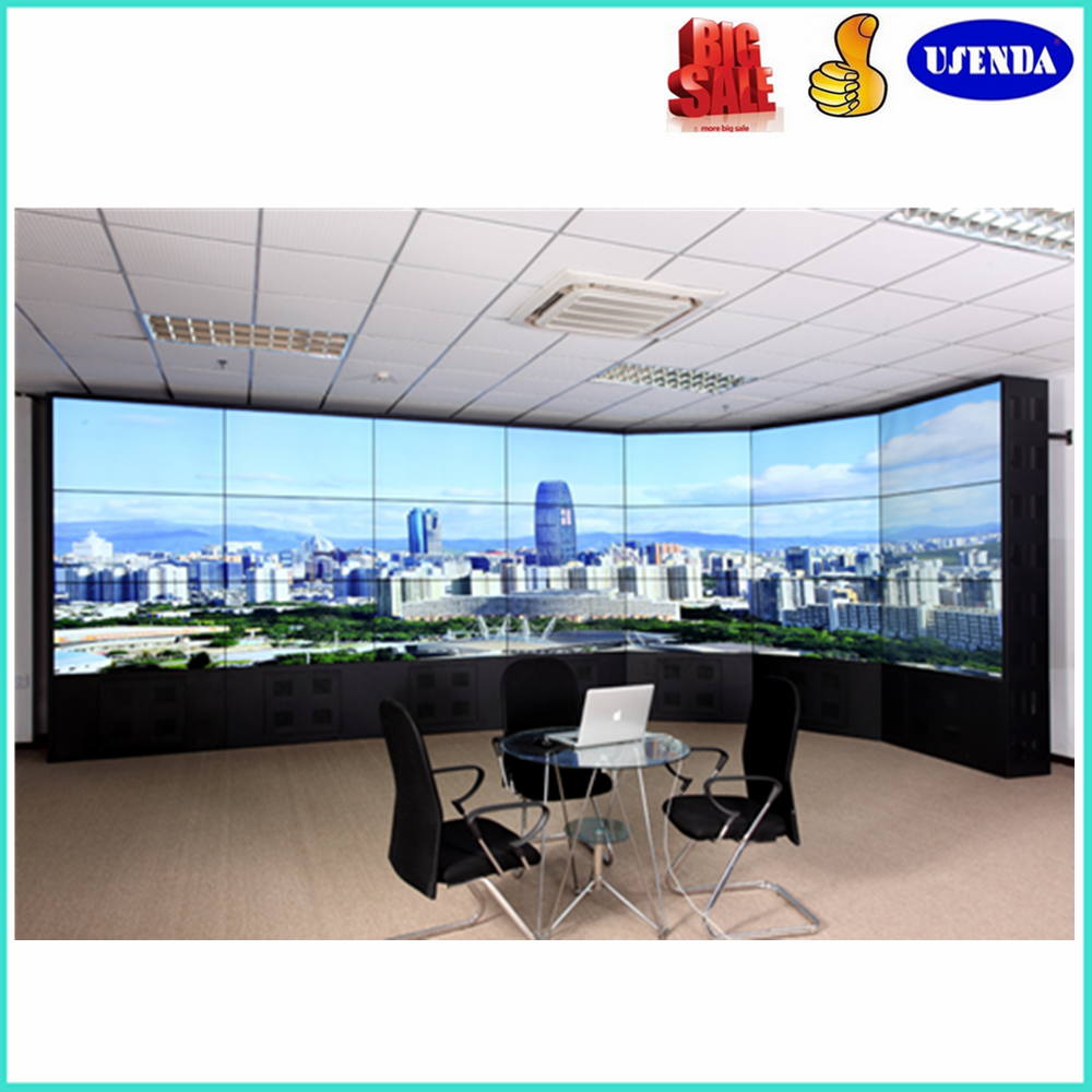 china manufacturer 46inch 8mm indoor seamless tv video wall with splitter multimedia player