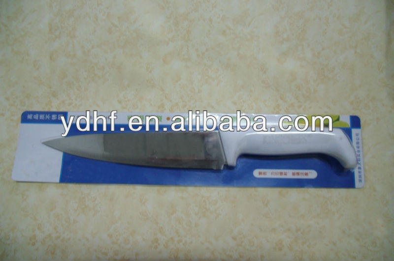 K063/C stainless steel wide blade knife, kitchen knife with plastic handle