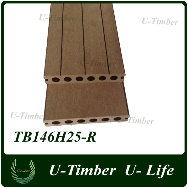 wpc sheet wood plastic composite decking, crack-resistant and anti-slip