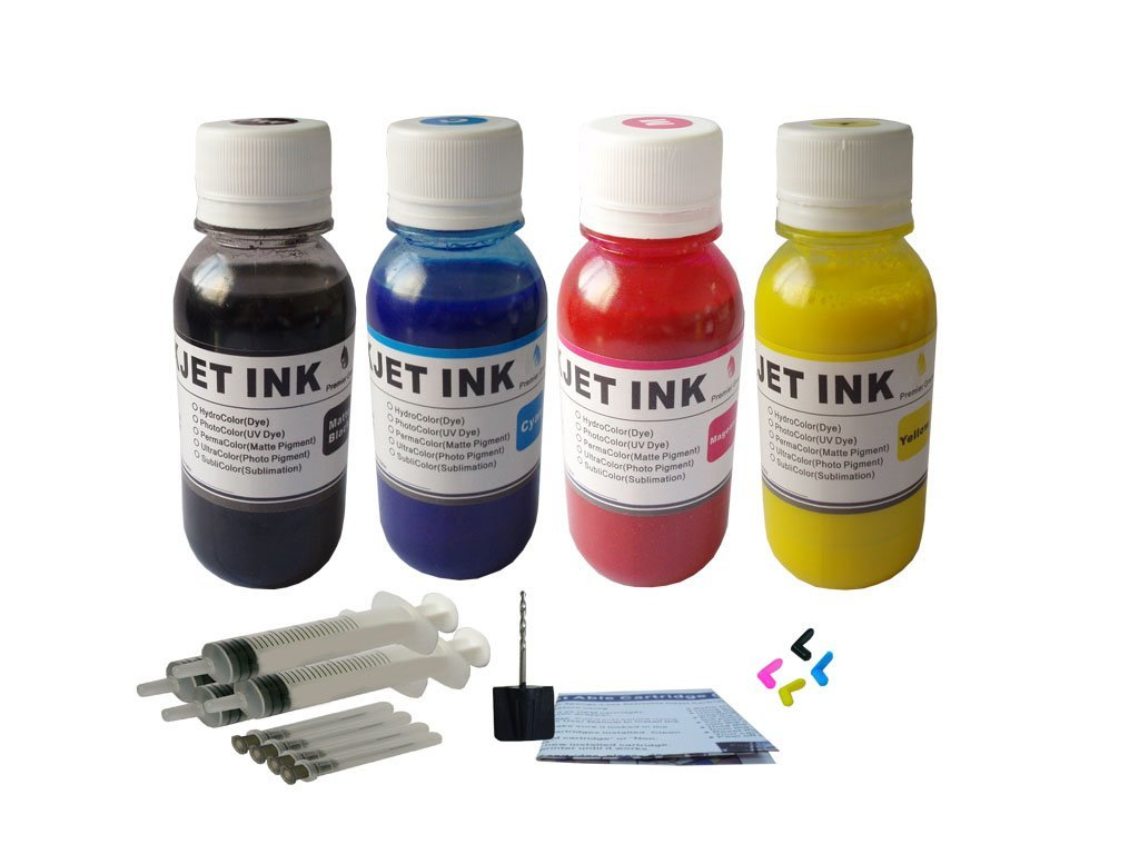 ND ™ Brand Dinsink: 4X4OZ Pigment Refill ink kit for HP 932 HP 933: Officejet 6600, Officejet 6700 with refill syringe and tools. The item with ND Logo!