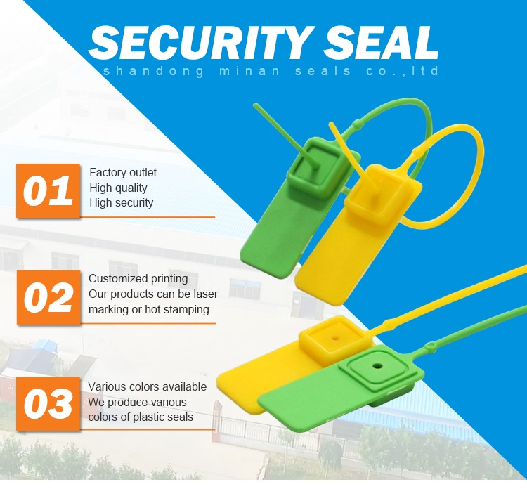 MA - PS 6002 High Security Seals Plastic Cargo Security airline safety tamper proof Plastic Seal with bar code
