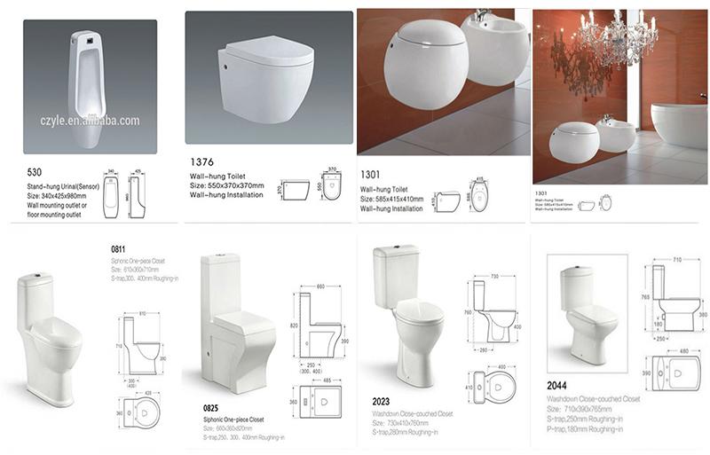 Peralatan Normal Ukuran Keramik Kamar Mandi Desain Terbaik Penjualan