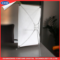 Advertising material A4 Desktop mini X Banner Stand