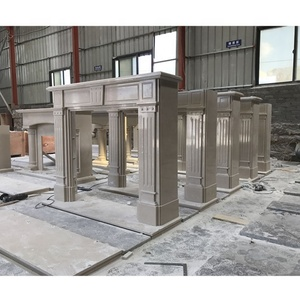 Artificial Marble Fire place Factory,Fireplace Mantel Surround for Saudi Arabia Market