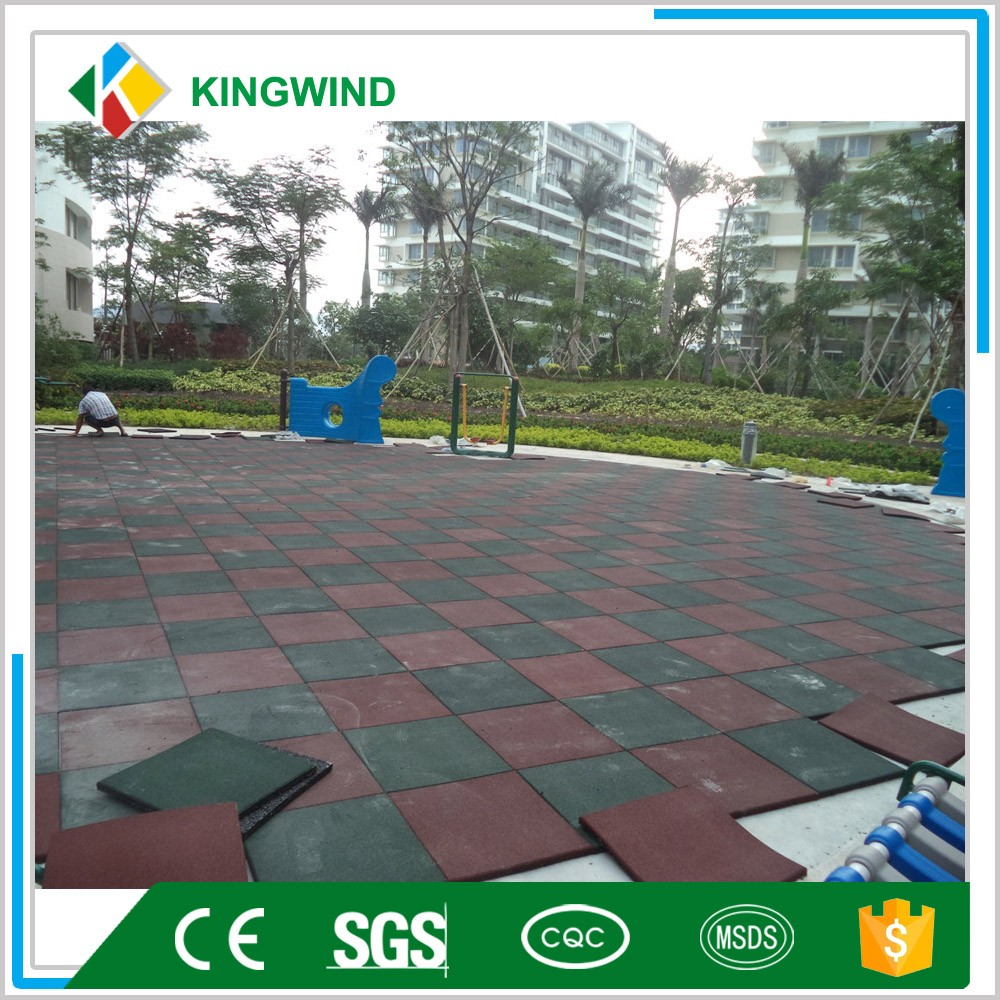 Kindergarten interlocking rubber flooring for garage gym play school