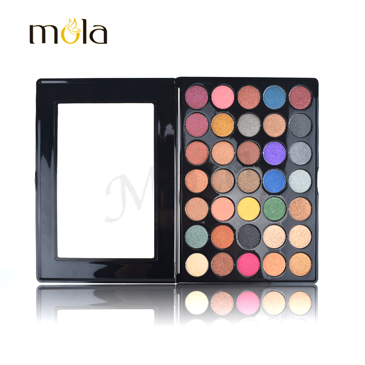 New cosmetics makeup 35 color open window eyeshadow palette all shimmer colors eyeshadow