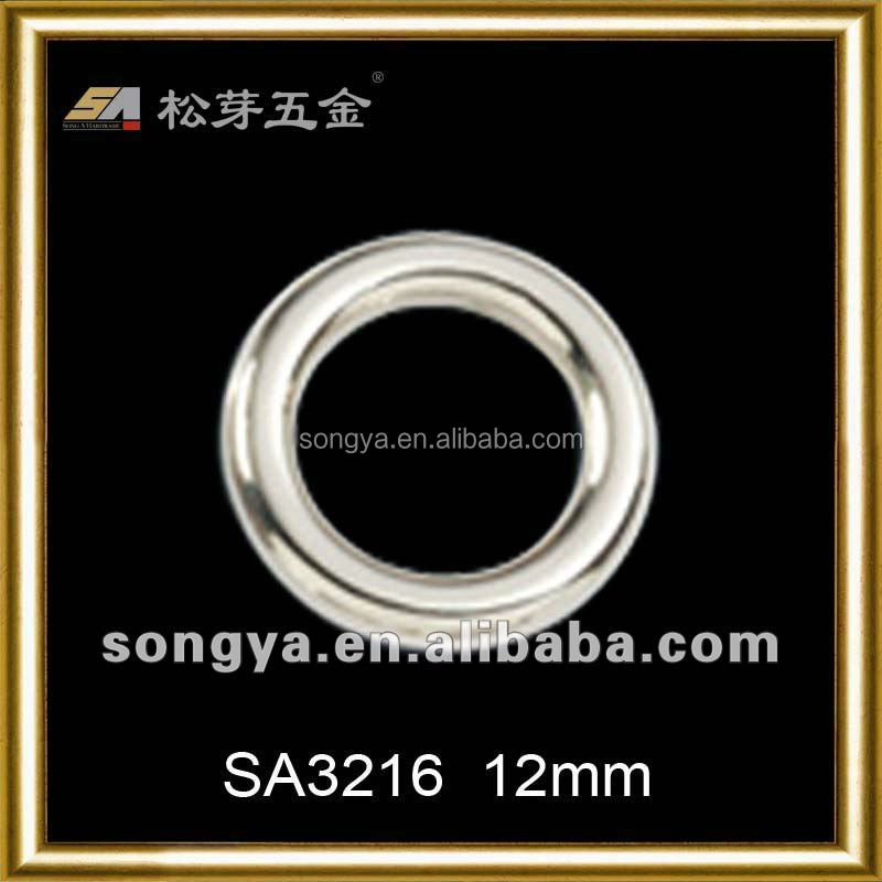 Song A Metal Eco-friendly Nickel free bag hardware fitting small o ring belt buckles