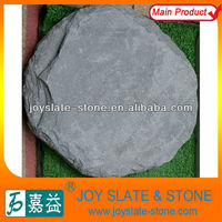 natural round slate stepping stone/wholesale tumbled stones