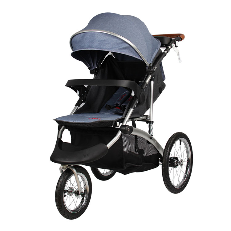 "The most popular Jogger travel stroller / 3 wheel aluminum alloy frame stroller with 12"" Air wheels  / european baby stroller"