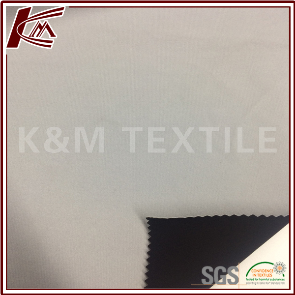 Outdoor Material 100D Spun Poly Bonded with 100 Polyester Tricot Brushed Fabric