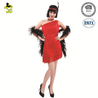 halloween 60s 70s Costume disco dance flapper fancy dress carnival disco party dance costume