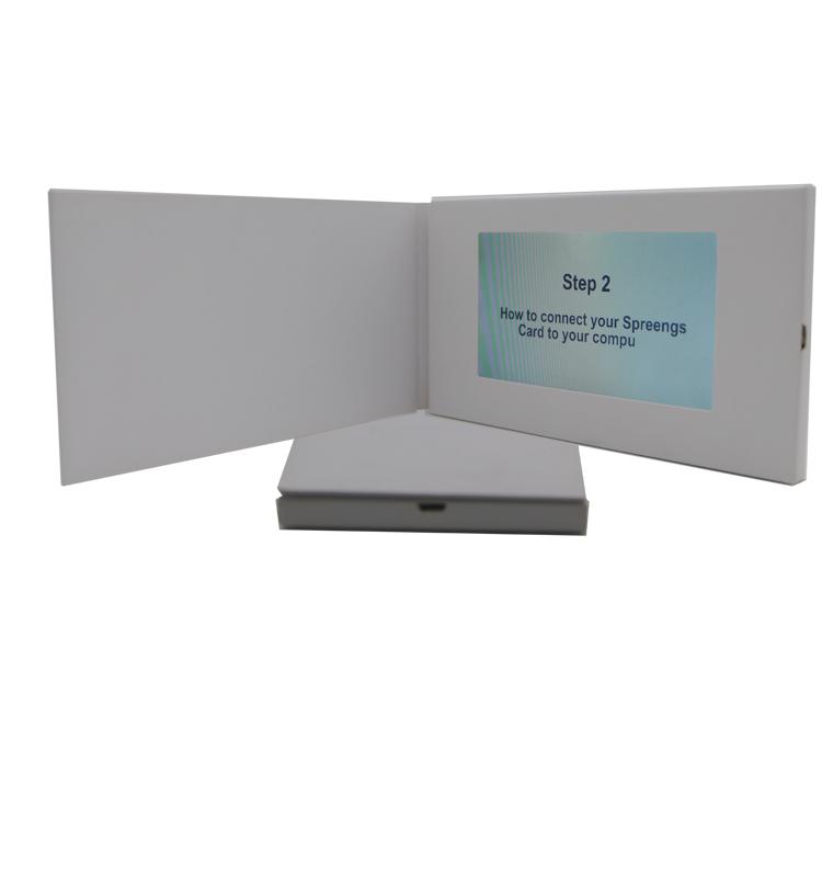 Video-Hochzeitseinladungs-Karte Soem- / ODM-niedriger Preis-LED LCD für künstliches