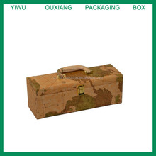 Custom order luxury wooden material leather wine carrier