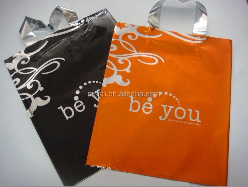 HDPE t-shirt shipping bag on roll, with logo