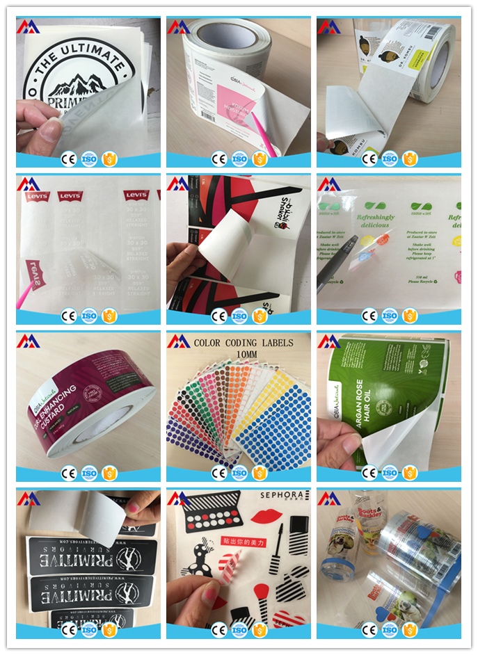 2019 Custom inkjet label roll adhesive blank paper sticker roll