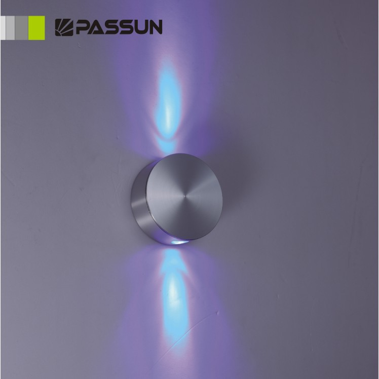 Round Shape Four Way Lights 4w Led Wall Lamp