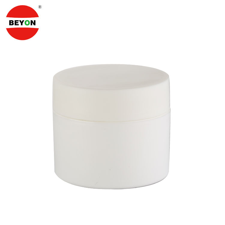 High quality 250ml white jar cream plastic cosmetic
