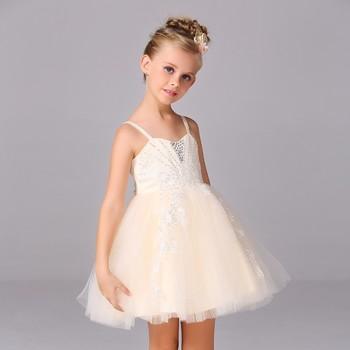 Little girls ball gown off shoulder flower children princess ...